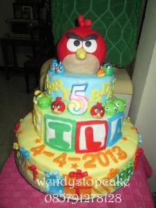 Angrybird birthday ulang tahun tiered cake
