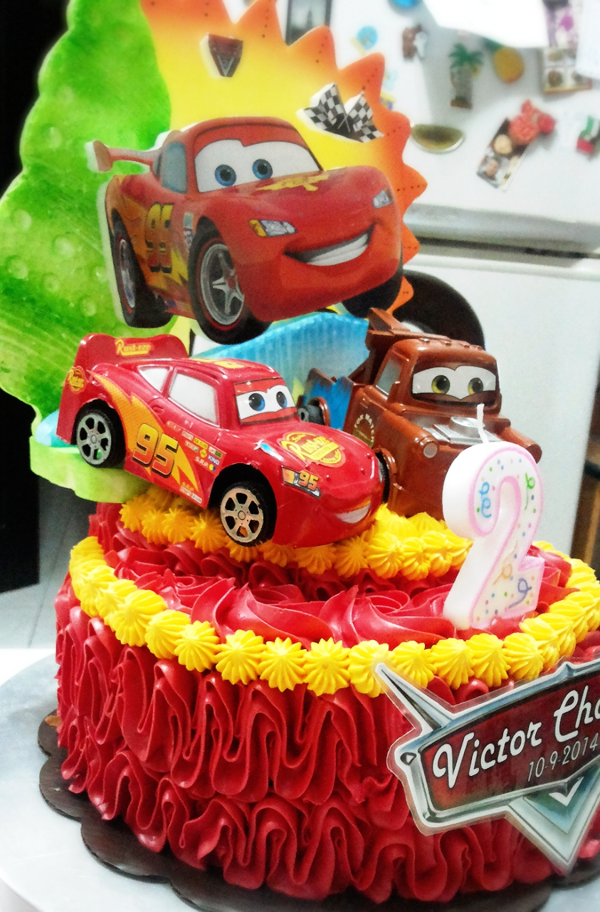 Cars Butter Cream Birthday Cake With Toys Wendy S Top