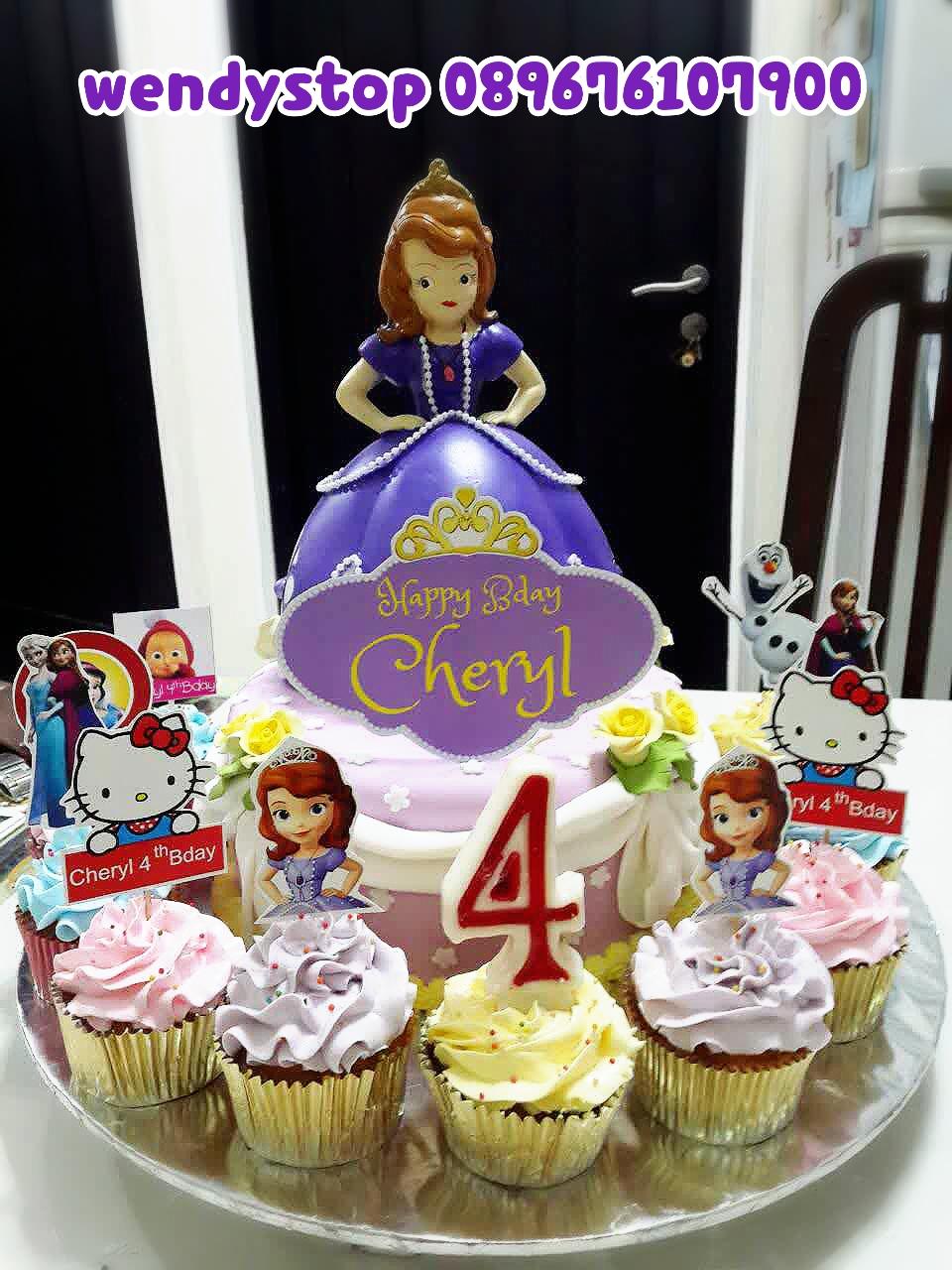 Sofia The First Birthday Cake Dan Cupcake Macam Macam Karakter