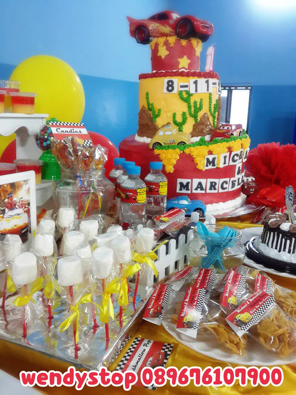 Disney Cars Mc Queen Birthday Dessert Table Wendy S Top