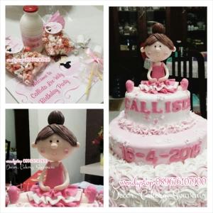 Jual Kue ulang tahun surabaya ballerina cake tutu cute cake pink cake ulang tahun girl kue ultah