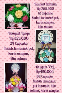 Price List cupcake surabaya Bouquet bunga cupcake