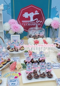 sweet corner dessert table surabaya bca kpr gathering spring flower desset table sweet corner outdoor indoor party arisan 4