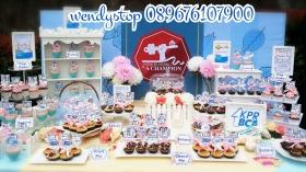 sweet corner dessert table surabaya bca kpr gathering spring flower desset table sweet corner outdoor indoor party arisan