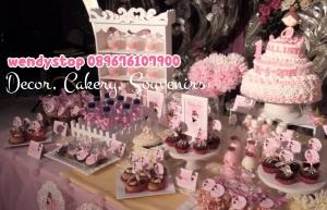 sweet corner tutu princess ballerina theme birthday surabaya dessert table sidoarjo 2