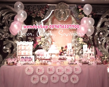 sweet corner tutu princess ballerina theme birthday surabaya dessert table sidoarjo 3
