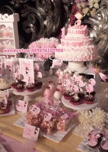 sweet corner tutu princess ballerina theme birthday surabaya dessert table sidoarjo 4