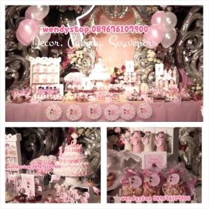 sweet corner tutu princess ballerina theme birthday surabaya dessert table sidoarjo