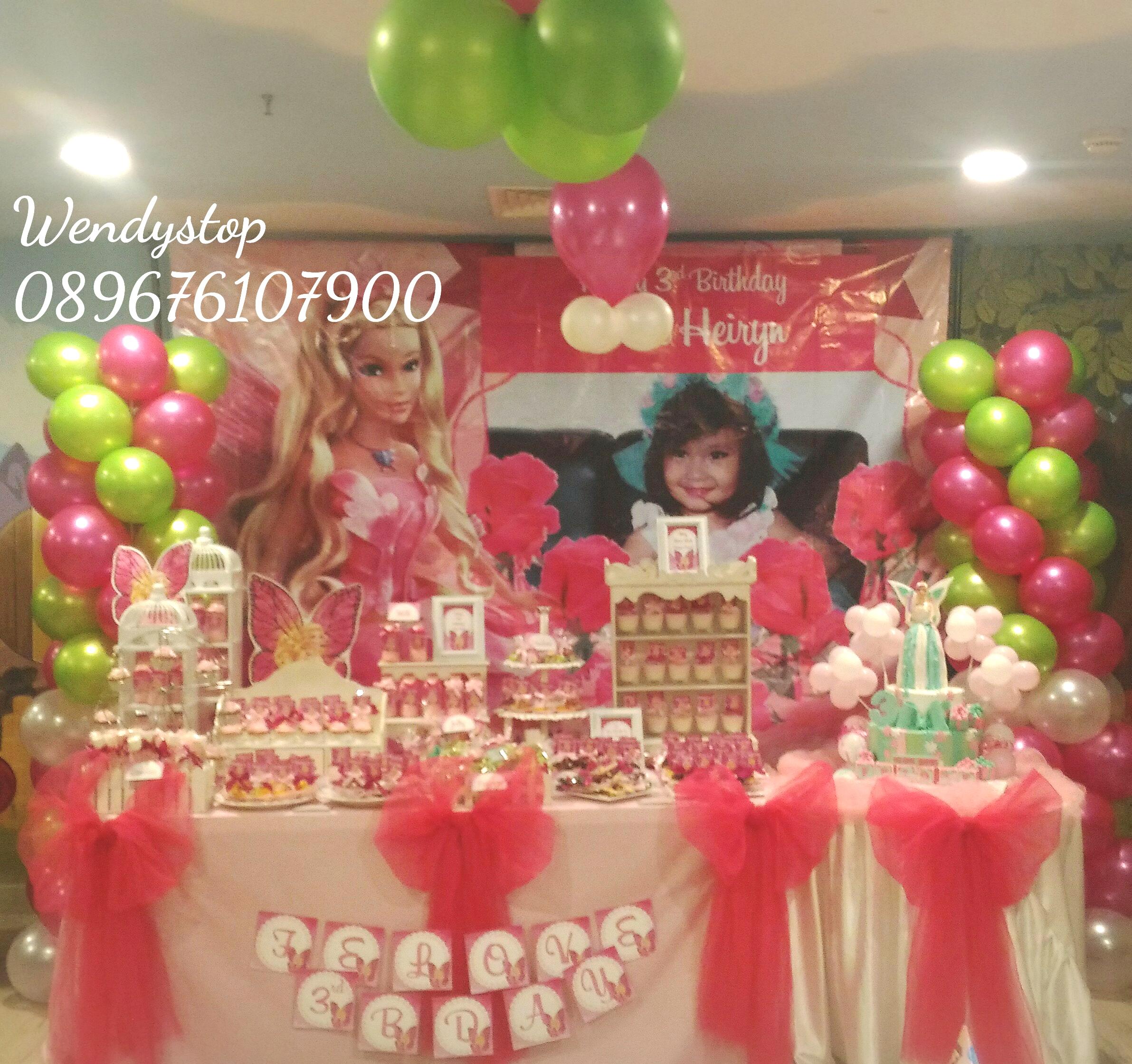 Dessert table sweet corner surabaya kue ultah sidoarjo for Dekor ulang tahun