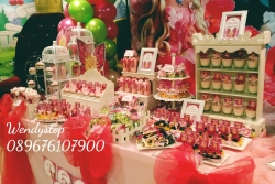 Dessert table sweet corner surabaya kue ultah sidoarjo jual sweetcorner desserttable partydecor party decoration sidoarjo gresik barbie faitopia girl bday dekor balon barbie fairytopia tema theme bday party