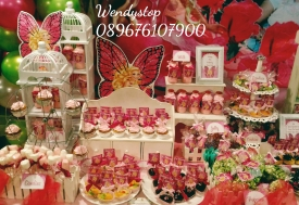 Dessert table sweet corner surabaya kue ultah sidoarjo jual sweetcorner desserttable partydecor party decoration sidoarjo gresik barbie faitopia girl bday