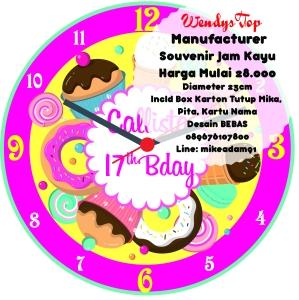 Jual souvenir wooden clock jam kayu pernikahan wedding ekonomis ulang tahun birthday bday ide souvenir surabaya jakarta malaysia jayapura makassar medan manyek manyue