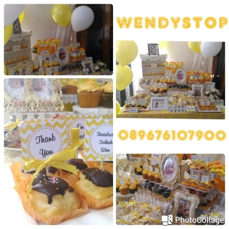 Sweet corner dessert table tedhak siten selapan surabaya sidoarjo gresik party decoration dekorasi pesta upacara turun tanah
