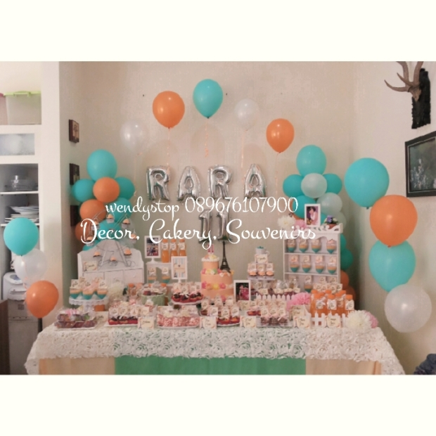 sweetcorner surabaya dessert table sidoarjo baloon decoration party planner partyplanner ebent desiner party decoration birthday ulang tahun meja kue sidoarjo gresik