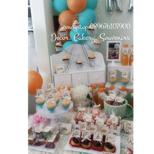 sweetcorner surabaya dessert table sidoarjo baloon decoration party planner partyplanner ebent desiner party decoration birthday ulang tahun meja kue sidoarjo