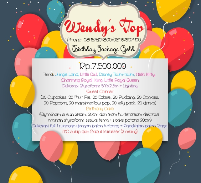 Dessert table surabaya wendy 39 s top for Dekor ulang tahun
