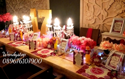 Table setting surabaya bachelorette party surabaya bride shower wedding sower bridal shower surabaya sidoarjo 3 dinner dekorasi meja
